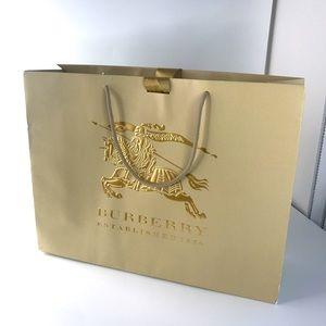 BURBERRY PRORSUM Gold Paper Bag Satin Ribbon Large